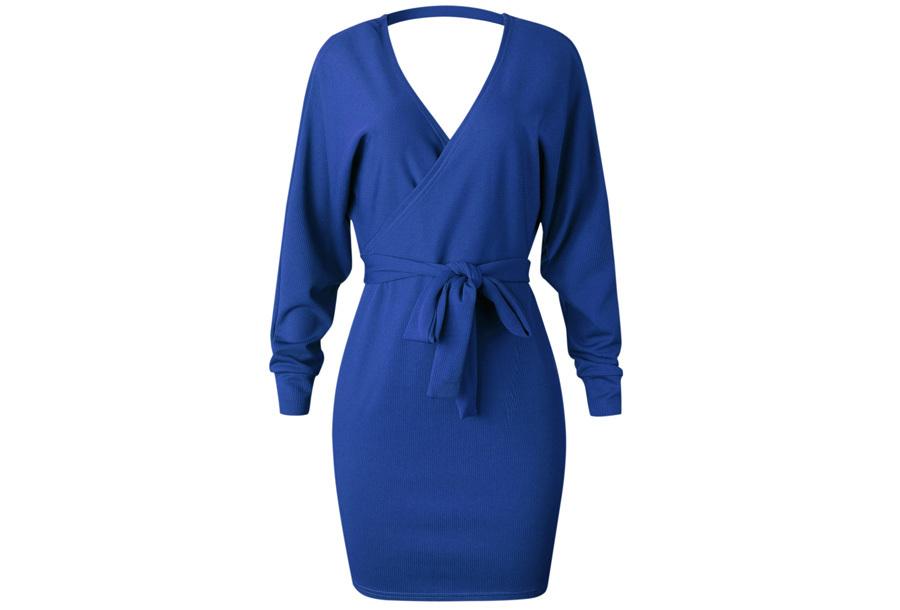Classy dress Maat XL - Blauw