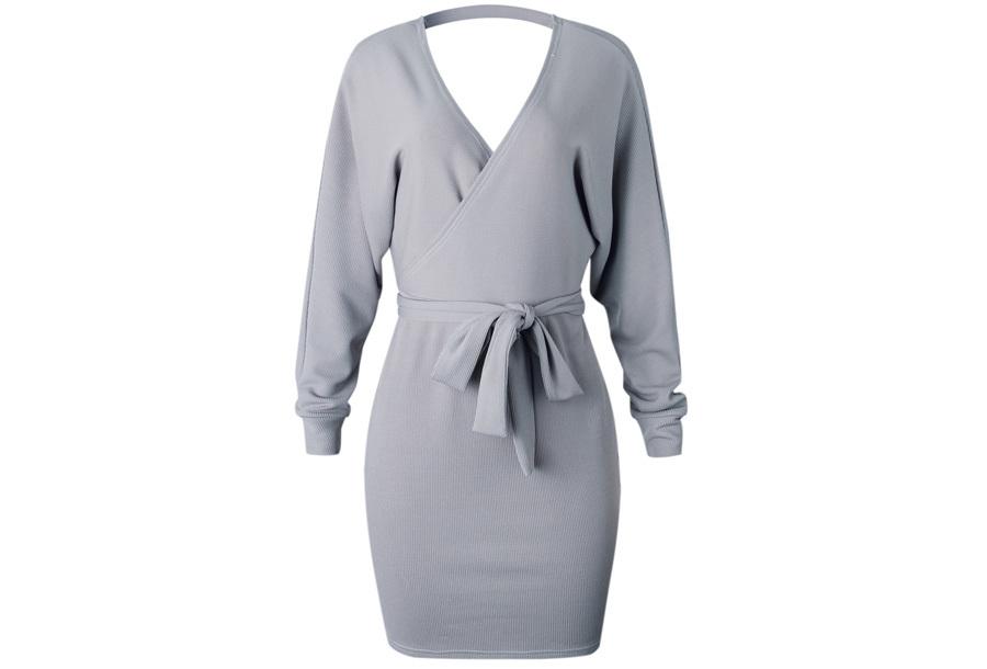 Classy dress Maat XL - Grijs