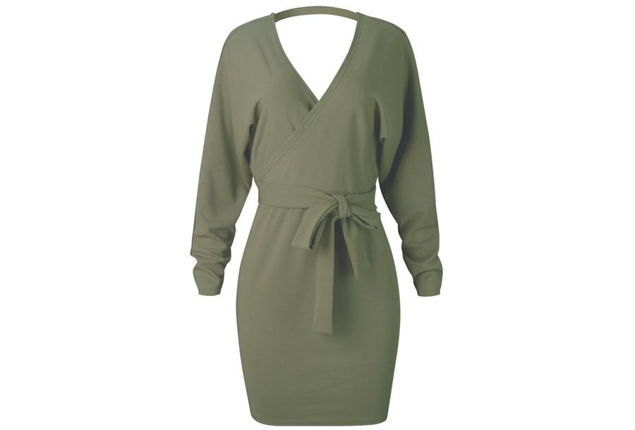Classy dress Maat XL - Legergroen