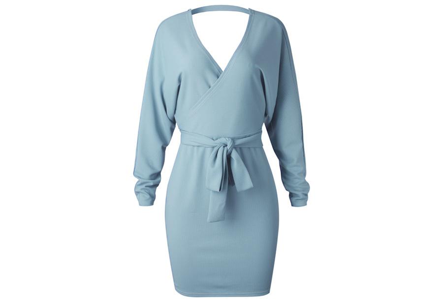 Classy dress Maat XL - Sky blauw