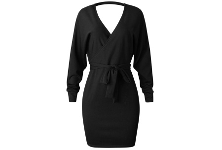 Classy dress   Het hele jaar door te dragen! Zwart