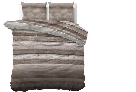 Luxe dekbedovertrekken in diverse prints | Keuze uit 3 maten  Marcus - Taupe