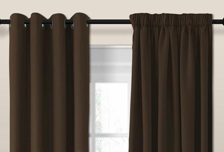 Luxe verduisterende gordijnen | Kant en Klaar, verkrijgbaar in verschillende maten en kleuren  Chocolade bruin