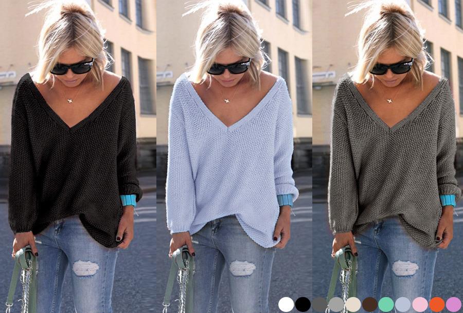Dagaanbieding - Comfy V-neck trui nu te bestellen met korting! dagelijkse koopjes
