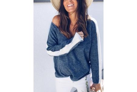 Loose v-neck trui | Voor een stijlvolle alledaagse look blauw