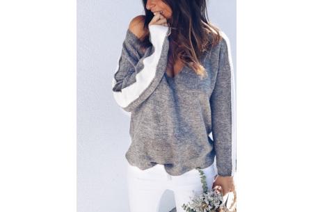 Loose v-neck trui | Voor een stijlvolle alledaagse look grijs