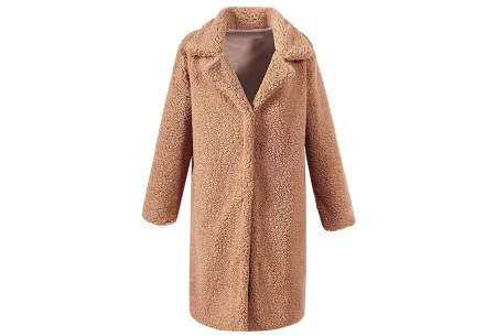Lange teddy jas | De wannahave van dit moment Camel