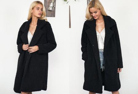 Lange teddy jas | De wannahave van dit moment