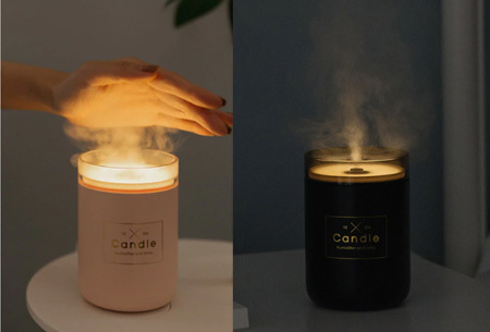 LED kaars luchtbevochtiger | Romantische aroma diffuser