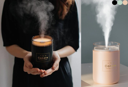 LED kaars luchtbevochtiger aroma diffuser