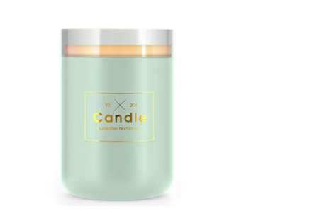 LED kaars luchtbevochtiger | Romantische aroma diffuser Mintgroen