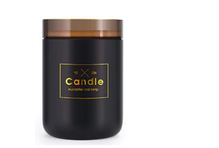 LED kaars luchtbevochtiger | Romantische aroma diffuser Zwart