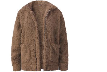Teddy jas | Zachte en warme musthave in maar liefst 9 kleuren Khaki