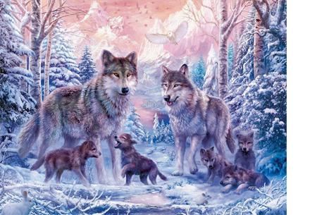 Diamond painting - dieren versie | De nieuwste en ontspannende doe-het-zelf trend! #5 wolf