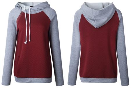 Pastel sweater | Trendy tweekleurige damestrui met heerlijk draagcomfort
