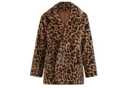 Panterprint jas   Heerlijk zachte fluffy jas #1