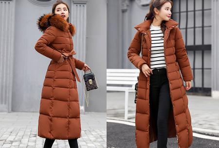 Lange dames winterjas | Houd jou heerlijk warm tijdens koude winterdagen caramel