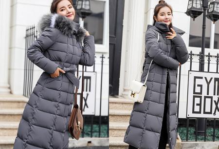 Lange dames winterjas | Houd jou heerlijk warm tijdens koude winterdagen grijs
