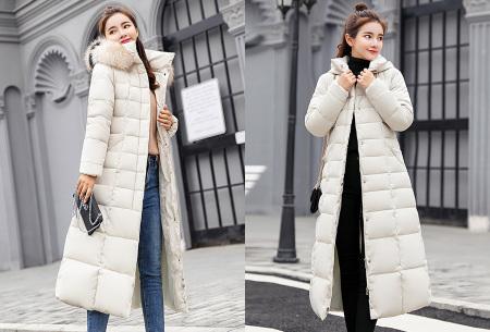 Lange dames winterjas | Houd jou heerlijk warm tijdens koude winterdagen wit