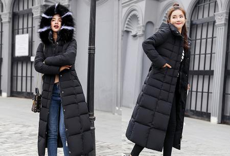 warme lange winterjas dames