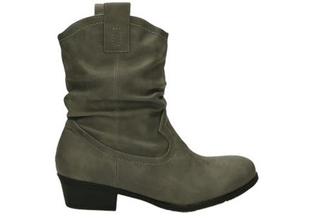 Cowboy boots | Trendy laarzen met western look grijs