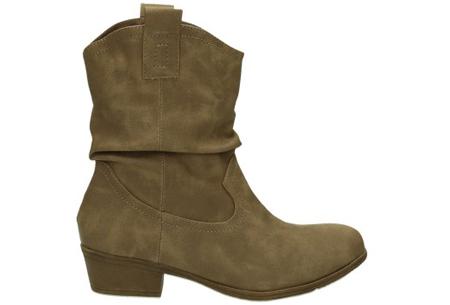 Cowboy boots | Trendy laarzen met western look khaki