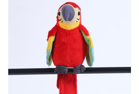 Pratende en bewegende eenhoorn of papegaai   Grappig knuffelbeest dat alles imiteert wat je zegt