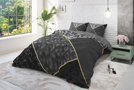 Luxe 100% katoenen dekbedovertrekken van Dreamhouse | Keuze uit 7 dessins  panther anthracite