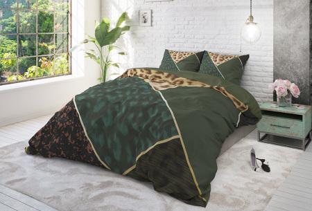 Luxe 100% katoenen dekbedovertrekken van Dreamhouse | Keuze uit 7 dessins  panther green
