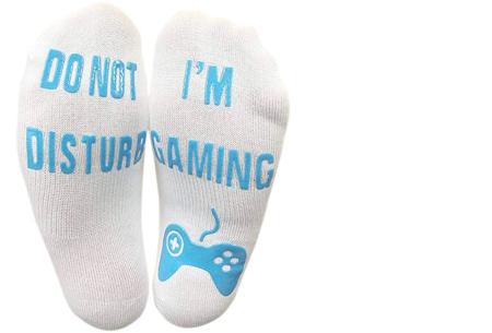 I'm Gaming sokken | Grappige sokken voor de echte gameliefhebbers! wit/blauw
