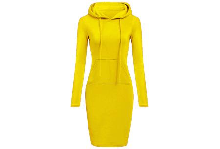 Fleece sweater dress | Comfortabel, stijlvol en heerlijk warm Geel