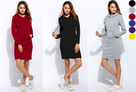Fleece sweater dress nu in de sale