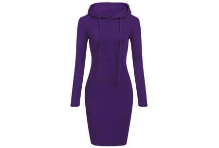 Fleece sweater dress | Comfortabel, stijlvol en heerlijk warm Paars