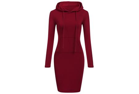 Fleece sweater dress | Comfortabel, stijlvol en heerlijk warm Wijnrood