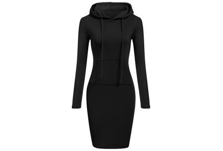 Fleece sweater dress | Comfortabel, stijlvol en heerlijk warm Zwart