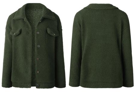 Teddy button jas | Warm, comfortabel & fashionable het najaar door