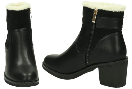 Gevoerde dames laarzen met hak Nu in de sale