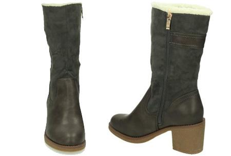Gevoerde laarzen met hak | Warme voeten in stijl