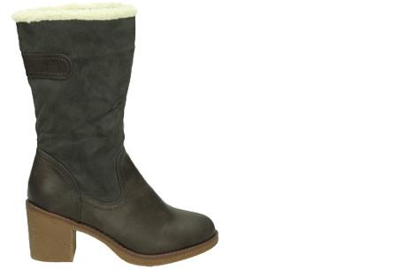 Gevoerde laarzen met hak | Warme voeten in stijl Grijs hoog