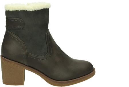 Gevoerde laarzen met hak | Warme voeten in stijl Grijs laag