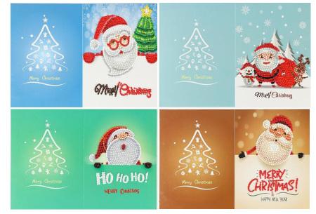 Diamond painting kerstkaarten | Maak je eigen originele kerstkaarten Pakket 1