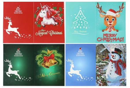 Diamond painting kerstkaarten | Maak je eigen originele kerstkaarten Pakket 2