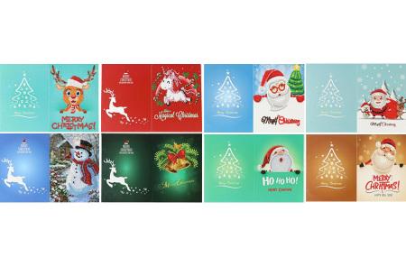 Diamond painting kerstkaarten | Maak je eigen originele kerstkaarten Pakket 3