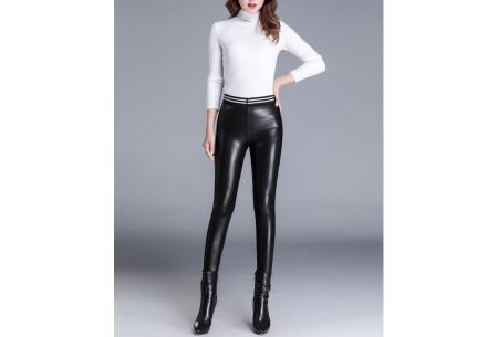 Leather look legging met fleecevoering | Heerlijk warm voor de koude dagen!