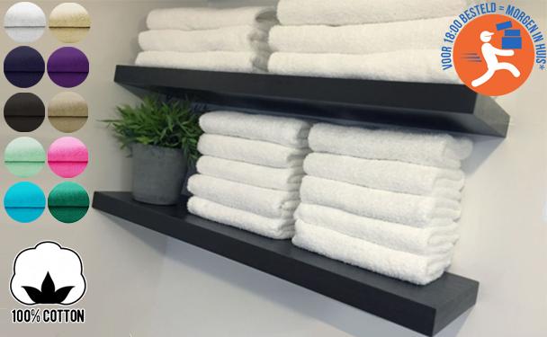 Handdoeken of badhanddoeken nu met korting