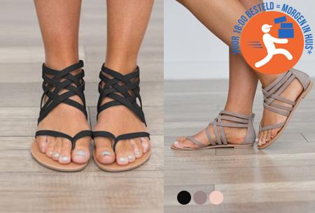 Strap sandalen in de aanbieding
