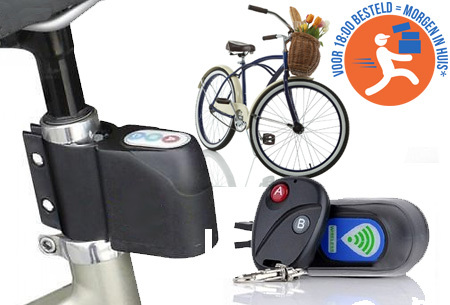 Fietsalarm met code of afstandsbediening