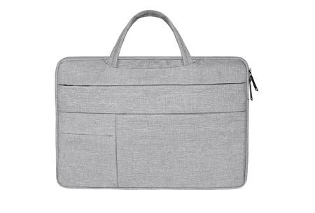 Laptoptas | Luxe tas voor je laptop verkrijgbaar in 4 formaten Lichtgrijs