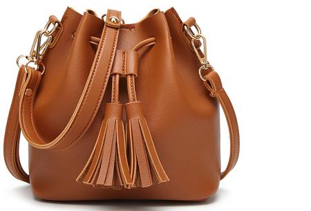 Fancy hand- en schoudertassen | Hippe tassen in 2 modellen en diverse kleuren A - Cognac