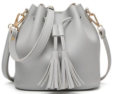 Fancy hand- en schoudertassen | Hippe tassen in 2 modellen en diverse kleuren A - Grijs
